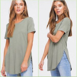Side Slit Top/ Army Green / S-L